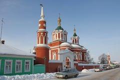 Katedra egzaltacja krzyż przy Uspensky Brusensky klasztorem w Kolomna Kremlin Kolomna, Moskwa Oblast, Rosja Obraz Stock