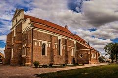 Katedra em Lomza, Polônia Fotos de Stock Royalty Free