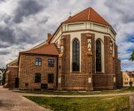Katedra em Lomza, Polônia fotografia de stock