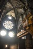Katedra Embrun, wnętrze Fotografia Royalty Free