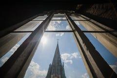 katedra gothic Gocka architektura jest stylem który rozkwitał podczas wysokiego i opóźnionego średniowiecznego okresu architektur Zdjęcie Stock