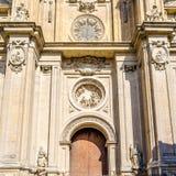 Katedra Granada, Andalusia, południowy Hiszpania Obrazy Royalty Free