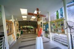 Katedra Greenbelt park na Sep 4, 2017 w Makati mieście, Phili obrazy stock