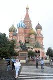 Katedra intercesja na fosie zabytek mieszkaniec Minin i książe Pozharsky plac czerwony Fotografia Royalty Free