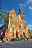 Katedra Koenigsberg na Kneiphof wyspie Kaliningrad, fo obraz stock
