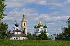 Katedra kwadrat w Kolomna Rosja fotografia royalty free