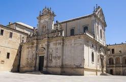 Katedra, Lecka, Apulia, Włochy Zdjęcie Stock
