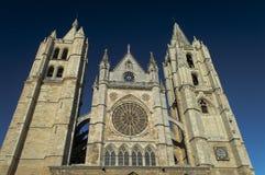 Katedra Leon, Hiszpania zdjęcie royalty free