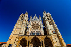 Katedra Leon, Hiszpania Obrazy Royalty Free