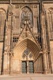 Katedra Magdeburski przy rzecznym Elbe, Niemcy obraz stock