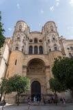 Katedra Malaga Andalucia, Hiszpania zdjęcia stock