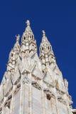 Katedra Mediolan – iglica frontowy prawy kąt Zdjęcie Royalty Free