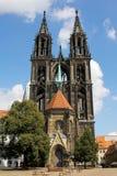 Katedra na Albrechtsburg kasztelu, Meissen, Niemcy Fotografia Stock