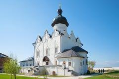 Katedra na cześć ucztę wniebowzięcie Błogosławiony maryja dziewica w Sviyazhsky Sviyazhsky wniebowzięciu Monaste Zdjęcie Royalty Free