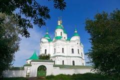 Katedra narodzenie jezusa Błogosławiona dziewica w Kozelets, Chernihiv region, Ukraina Zdjęcie Stock