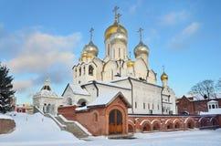 Katedra narodzenie jezusa błogosławiony maryja dziewica w Zachatievsky monasterze w Moskwa Zdjęcie Stock