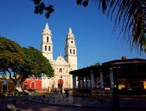 Katedra Nasz dama Czysty poczęcie w izolującym mieście Campeche obrazy royalty free