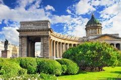 Katedra Nasz Dama Kazan, Świątobliwy Petersburg Zdjęcia Stock