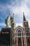 Katedra Niepokalany poczęcie przy Chantaburi w Tajlandzkim Zdjęcia Stock