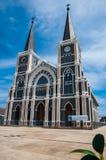 Katedra Niepokalany poczęcie przy Chantaburi w Tajlandzkim Obrazy Royalty Free