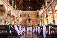 Katedra Niepokalany poczęcie przy Chantaburi w Tajlandzkim Fotografia Royalty Free