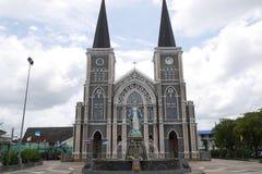 Katedra Niepokalany poczęcie w Chantaburi Tajlandia zdjęcia stock