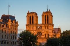 Katedra Notre Damae Zdjęcia Royalty Free