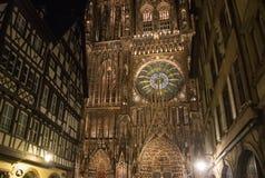 Katedra Notre Damae de Strasburg Obrazy Royalty Free