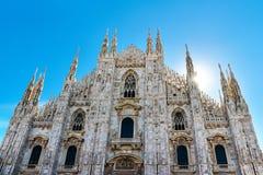 Katedra od Mediolańskiego centrum miasta, Włochy Fotografia Stock