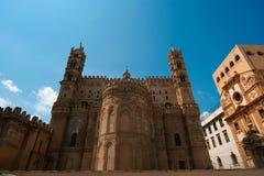 Katedra Palermo, Sicily, południowy Włochy Obrazy Royalty Free