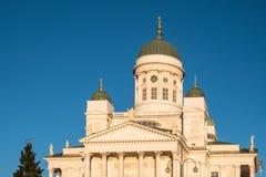 Katedra przy senata kwadratem w Helsinki Fotografia Royalty Free