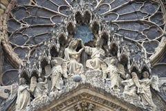 Katedra Reims - Powierzchowność Obrazy Royalty Free