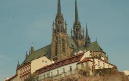 Katedra Saints Peter i Paul Petrov, odrodzenie, turystyczny punkt zwrotny i turystyka, Rzymskokatolicki, Barokowy, Gocki, fotografia stock