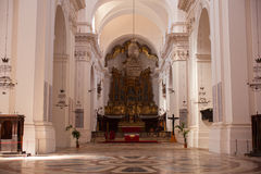 Katedra San Nicolà ² l'Arena, Catania Zdjęcia Royalty Free