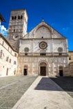 Katedra San Rufino, Assisi -, Umbria, Włochy fotografia royalty free
