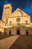 Katedra San Rufino, Assisi -, Umbria, Włochy Obrazy Stock