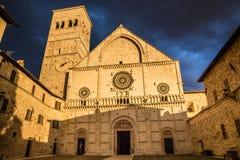 Katedra San Rufino, Assisi -, Umbria, Włochy Zdjęcia Stock