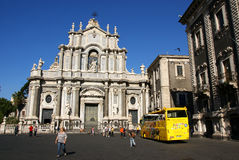 Katedra Sant'Agata i turysta Obraz Stock