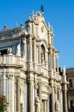 Katedra Santa Agatha Główna fasada Catania, Sicily, Włochy Fotografia Stock