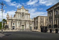 Katedra Santa Agatha przy piazza Del Duomo, Catania -, Sicily, Włochy Zdjęcie Royalty Free