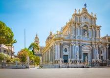 Katedra Santa Agatha w Catania, Sicily Obrazy Royalty Free