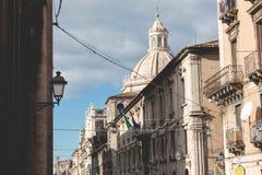 Katedra Santa Agatha w Catania w Sicily, Włochy Zdjęcia Stock