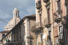 Katedra Santa Agatha w Catania w Sicily, Włochy Fotografia Royalty Free