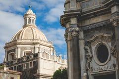 Katedra Santa Agatha w Catania w Sicily, Włochy Zdjęcie Royalty Free