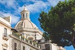 Katedra Santa Agatha w Catania w Sicily, Włochy Zdjęcie Stock