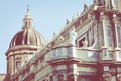 Katedra Santa Agatha w Catania w Sicily, Włochy Obraz Stock