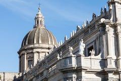 Katedra Santa Agatha w Catania w Sicily, Włochy Fotografia Stock
