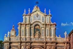 Katedra Santa Agatha w Catania w Sicily, Włochy Obrazy Royalty Free