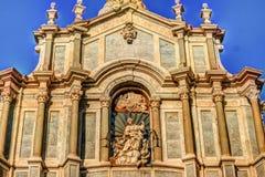 Katedra Santa Agatha w Catania w Sicily, Włochy Obraz Royalty Free