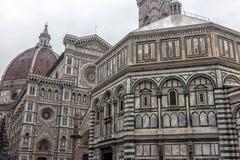 Katedra Santa Maria Del Fiore i Baptistery St JohnBa Obraz Stock